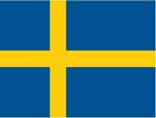 Danish Swedish flag